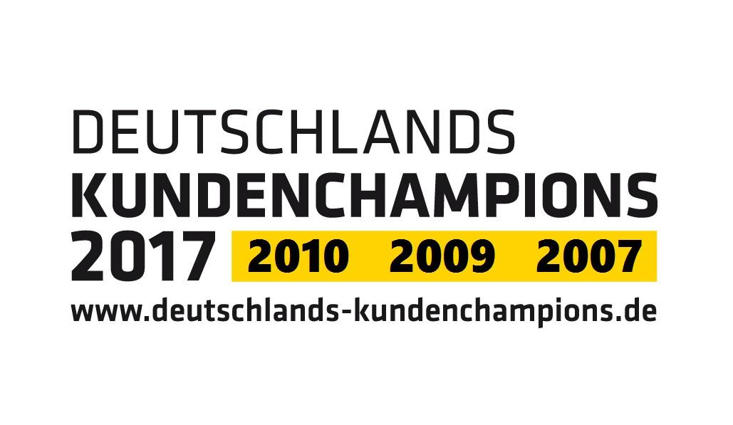 Logo Kundenchampions 2007 bis 2017